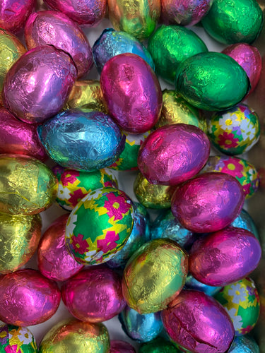 8 oz. Foiled Chocolate Eggs (Milk, Dark or White)