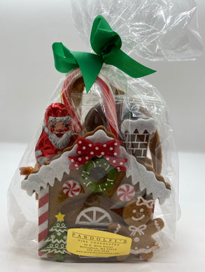 Gingerbread Felt Bag with Assorted Chocolate