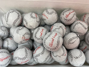 8 oz. Milk Chocolate Foiled Baseballs
