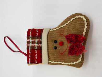 Gingerbread Stocking with Foiled Milk Chocolate Ornaments