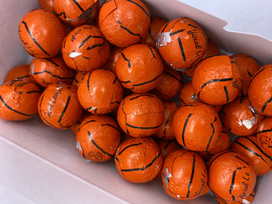 8 oz. Milk Chocolate Foiled Basketballs