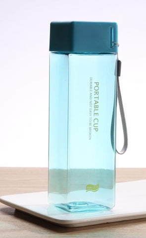 Square 500ml Water Bottle
