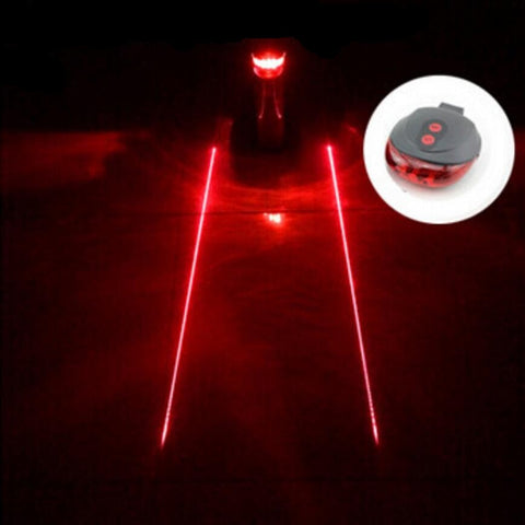 Bike Laser LED Tail Light - Virtual Lane Creator