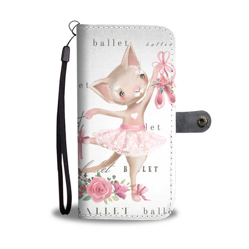 Ballerina Kitty - Phone Wallet Case