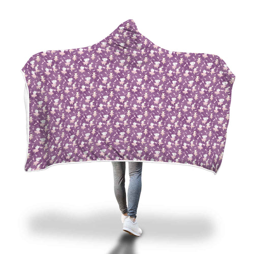 Cozy Hooded Blanket - Elephants & Hippos