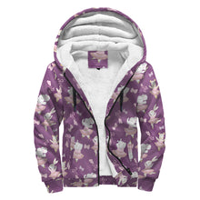 Load image into Gallery viewer, Sherpa Lined Hoodie - Hippos & Elephants