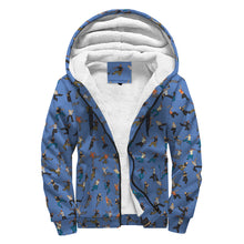 Load image into Gallery viewer, Sherpa Lined Hoodie - Hip Hop Blue