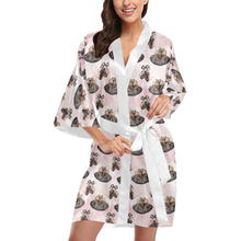 Load image into Gallery viewer, Short Kimono Robe - Black Swan