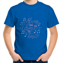 Load image into Gallery viewer, Kids Youth Crew T-Shirt - Always Take The Chance to Dance
