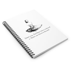 Spiral Notebook - Ruled Line - Behind Every Dancer