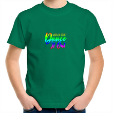 Load image into Gallery viewer, Kids Youth Crew T-Shirt - When In Doubt Dance it Out