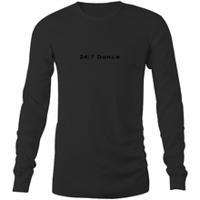 Load image into Gallery viewer, Mens Long Sleeve T-Shirt - 24:7 Dance