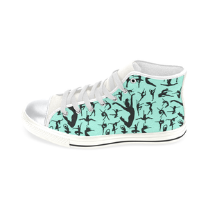 High Top Canvas Kid's Shoes  - Silhouette Dancer