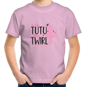 Kids Youth Crew T-Shirt - If The Tutu Fits