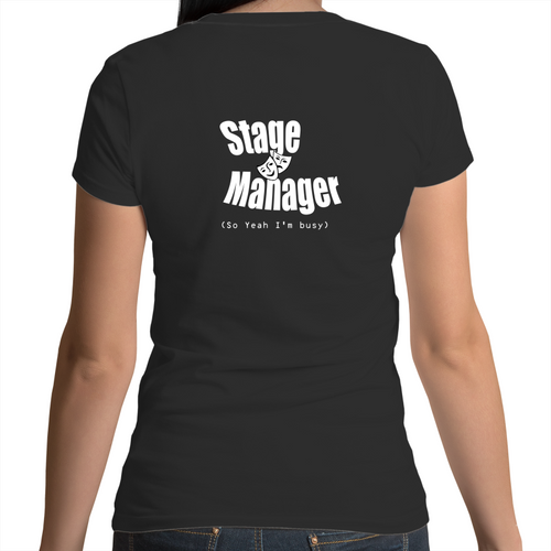 Womens Scoop Neck T-Shirt - Stage Manager