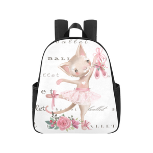 Multi-Pocket Backpack - Ballet Kitty Back Pack