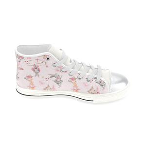 High Top Canvas Kid's Shoes  - Ballerina