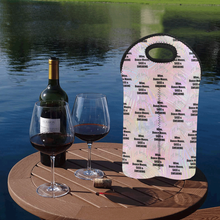 Load image into Gallery viewer, 2-Bottle Neoprene Wine Bag - I'll Bring...