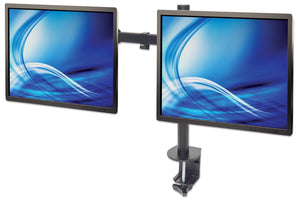 Universal Dual Monitor Mount with Double-Link Swing Arms Image 3