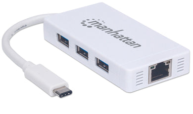 Type-C to 3-Port USB 3.0 Hub with Gigabit Network Adapter  Image 1