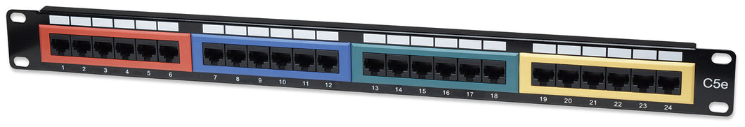 Cat5e Color-Coded Patch Panel Image 1