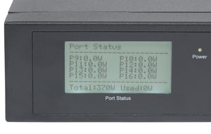 Intellinet 16-Port Gigabit Ethernet PoE+ Switch with 2 SFP Ports and LCD Screen