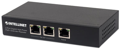 2-Port Gigabit High-Power PoE+ Extender Repeater Image 1
