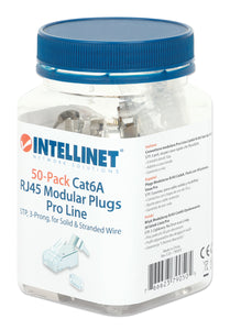 70-Pack Cat6A RJ45 Modular Plugs Pro Line Packaging Image 2