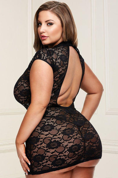 Dressed to the Nines Black Lace Mini