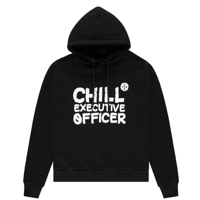 Chill Executive Officer Logo Hoodie Black