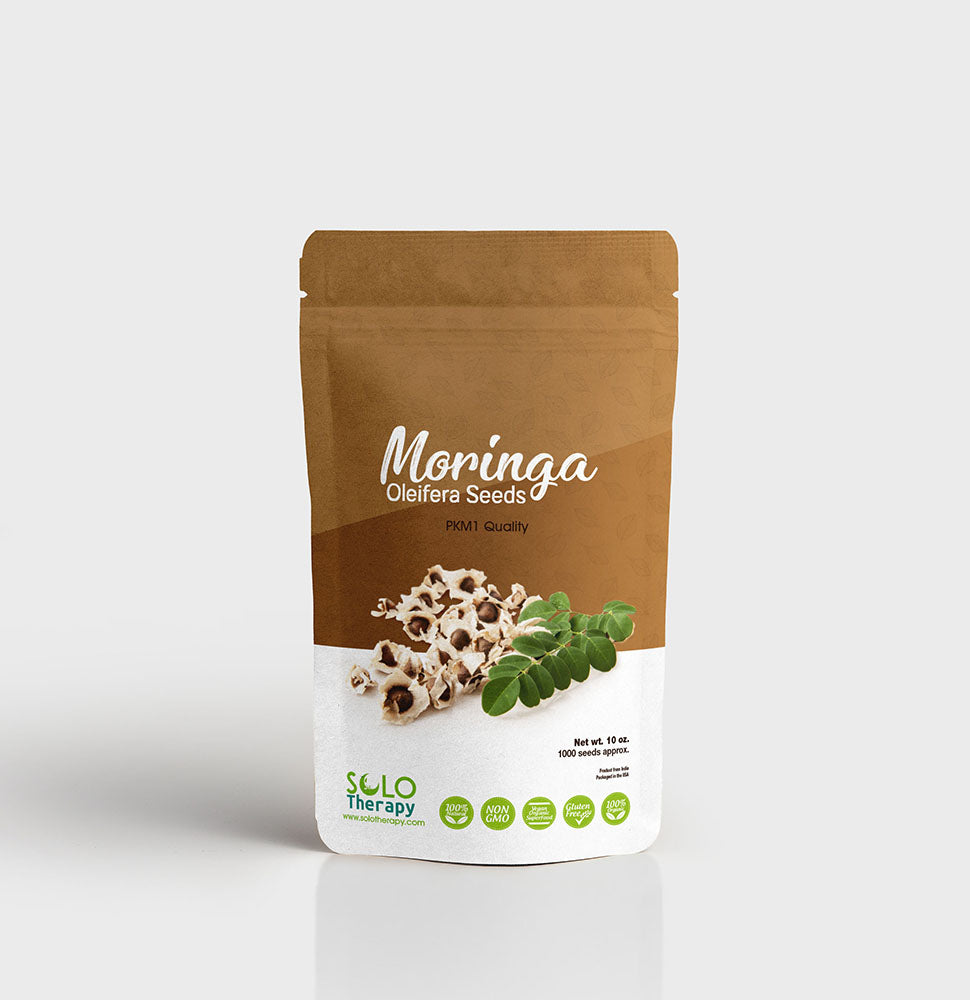 Organic Moringa Seeds 10 oz - Solo Therapy