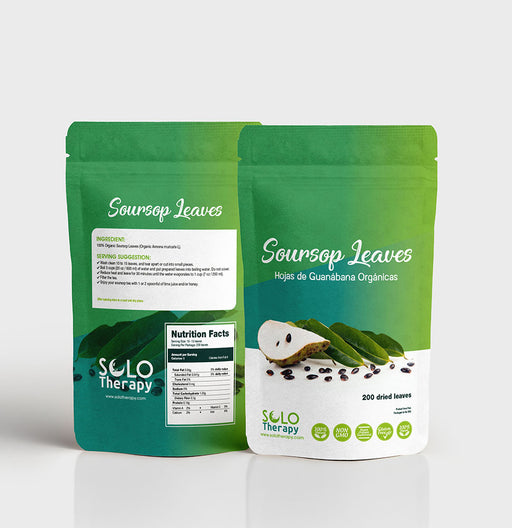 Organic Soursop Graviola Dried Leaves - Solo Therapy