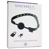 Sincerely Lace Locking Silicone Ball Gag