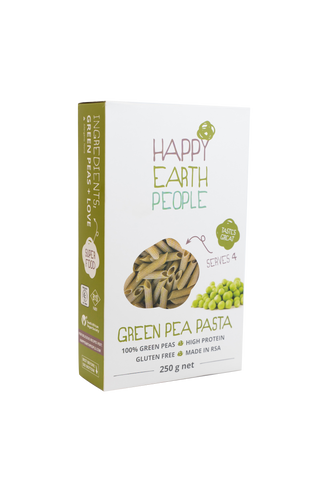Happy Earth People Green Pea Penne Pasta - 250g