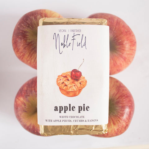 Noblefield - Apple Pie – White Chocolate with Apples, crumbs & raisins - 60g