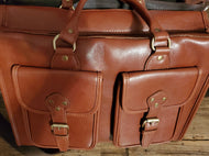 Leather Zipper Briefcase