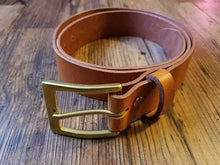 Load image into Gallery viewer, Leather Belt in Veg Tan
