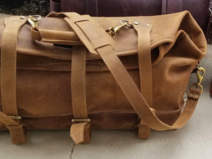 Tobacco Roll Down Duffel Bag (a.k.a The Waterbag)