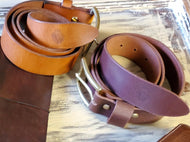 Leather Belt in Veg Tan