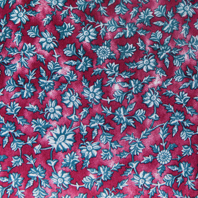 Burgundy Floral Patterned Lining