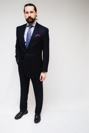 Bamboo Suit in Navy Blue