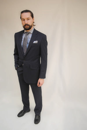 Eco Suit in Navy Blue