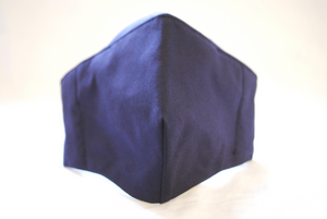Egyptian Cotton Face Covering in Dark Blue