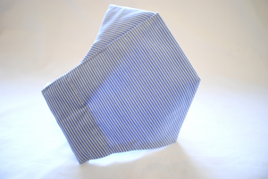 Egyptian Cotton Face Covering in Blue and White Stripe