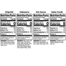 Load image into Gallery viewer, Four Bottle Variety Pack Nutrition Fact Image