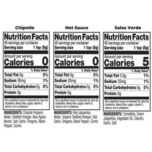 Load image into Gallery viewer, Three Bottle Mixed Pack Nutritional Fact Image