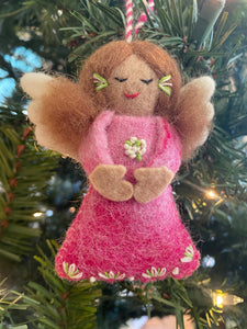 Tara Handknit Angel Ornament