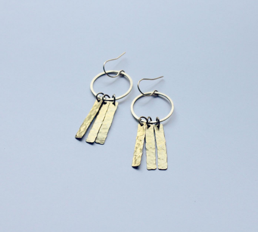 Sea to Seed Brass Bar Danglers
