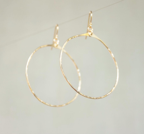Sea to Seed Brass Round Hoops