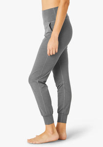 Beyond Heather Rib Fitted Midi Jogger HR1153